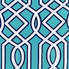 Turquoise Lattice Design Set from Lillian Vernon