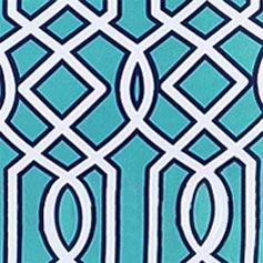 Turquoise Lattice Design Set from Lillian Vernon