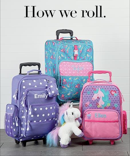 Shop Girls' Rolling Luggage